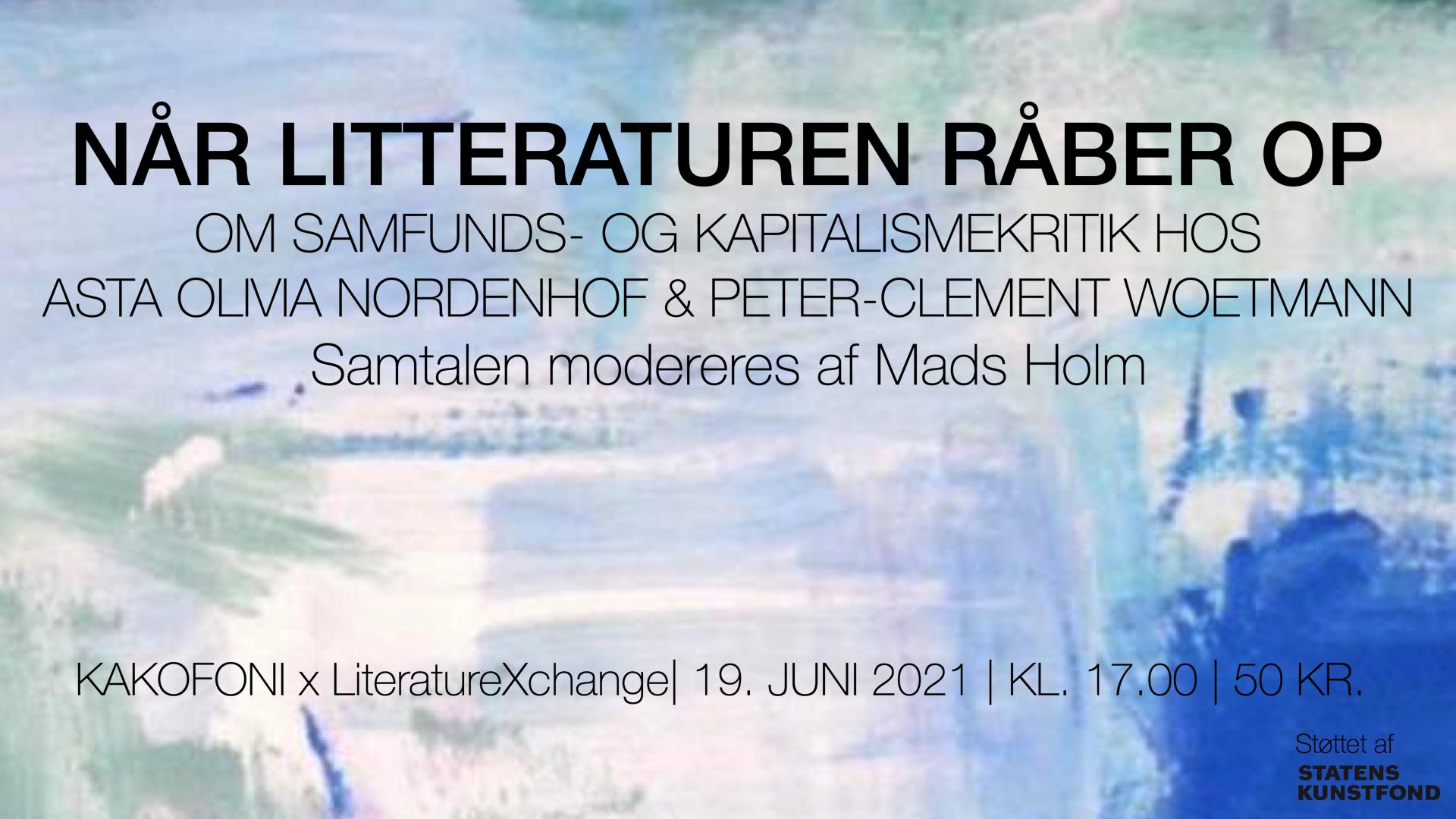 Nordenhof Woetmann Kapitalismekritik Kakofoni samfundskritik LiteratureXchange 2021